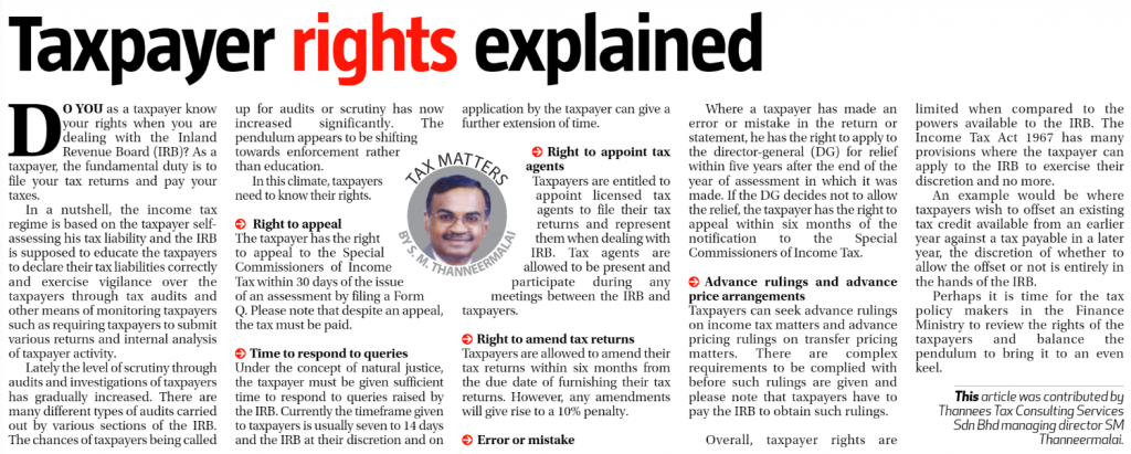 Taxpayer rights explained